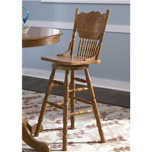 Mission 30 Inch Press Back Barstool