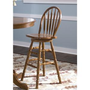 Mission 30 Inch Arrow Back Barstool