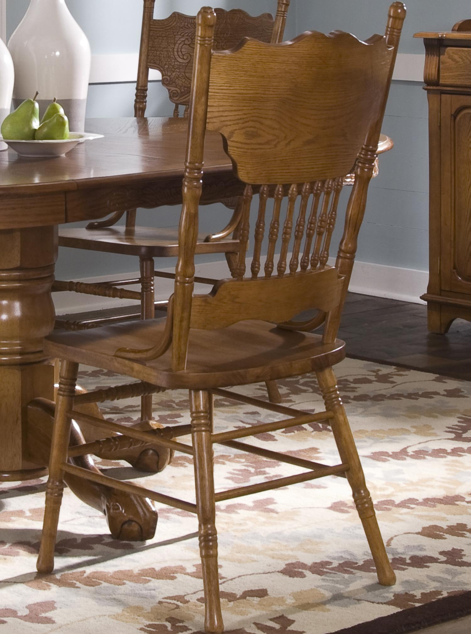 Nostalgia  Double Press Back Side Chair by Liberty Furniture at Lapeer Furniture & Mattress Center