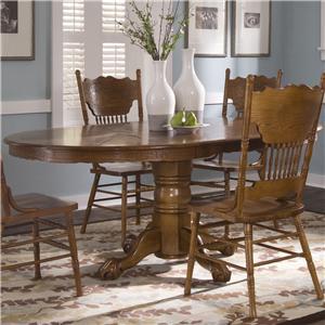 Oval Single Pedestal Dinner Table
