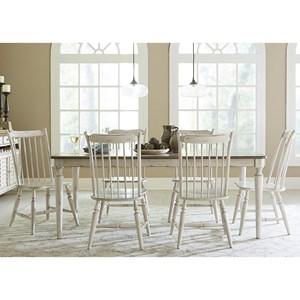 Liberty Furniture Oak Hill Dining 7 Piece Rectangular Table Set