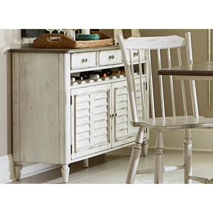 Dining Server with Bottle Storage