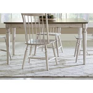 Liberty Furniture Oak Hill Dining Rectangular Leg Table