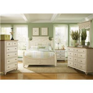 Liberty Furniture Ocean Isle  Queen Poster Bed, Dresser & Mirror, Chest