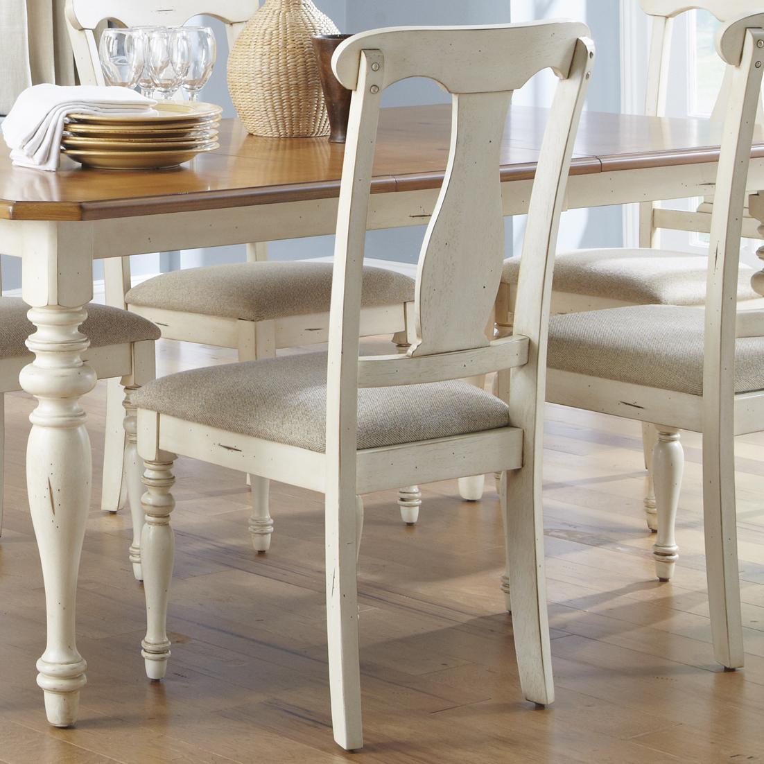 Ocean Isle  Splat Back Side Chair by Liberty Furniture at Lapeer Furniture & Mattress Center