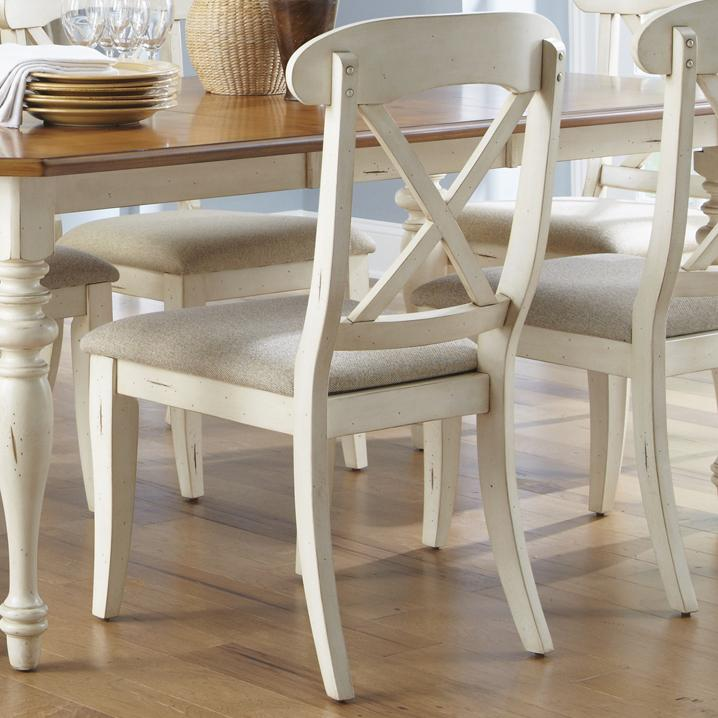 Ocean Isle  X-Back Side Chair by Liberty Furniture at Johnny Janosik