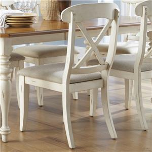 X-Back Dining Side Chair with Upholstered Seat