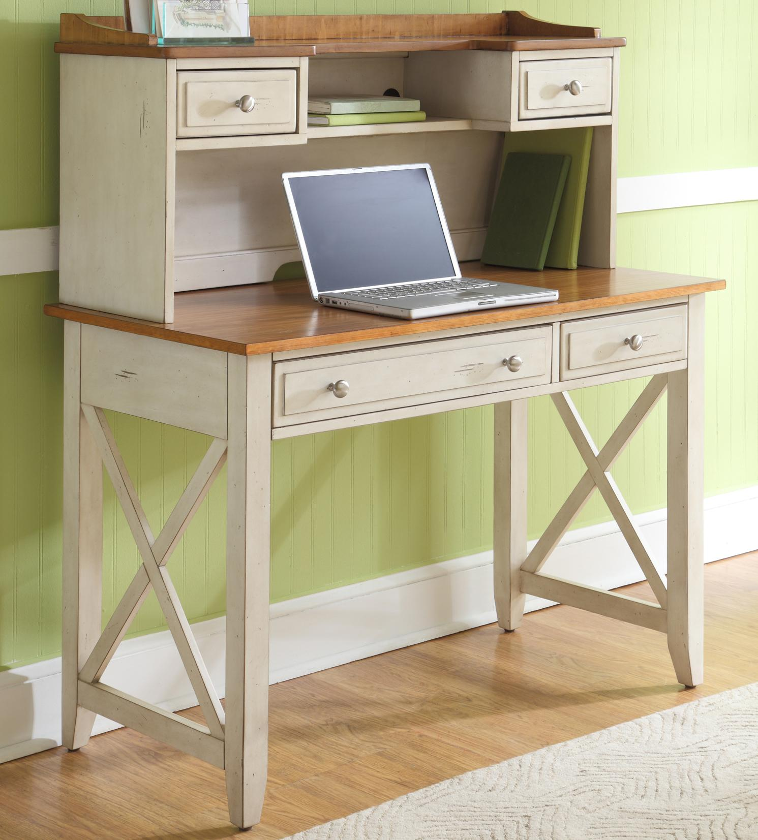 Ocean Isle  Desk and Hutch by Liberty Furniture at Lapeer Furniture & Mattress Center