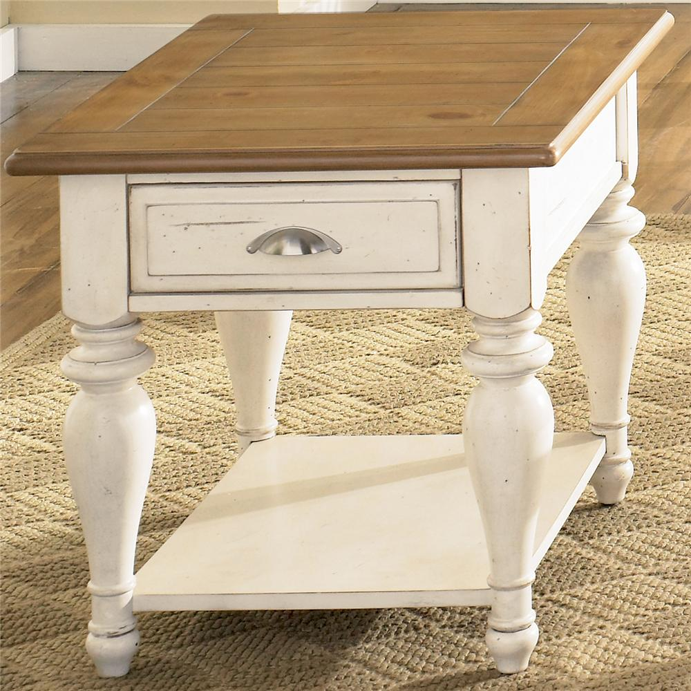 Ocean Isle  Rectangular End Table by Liberty Furniture at Lapeer Furniture & Mattress Center