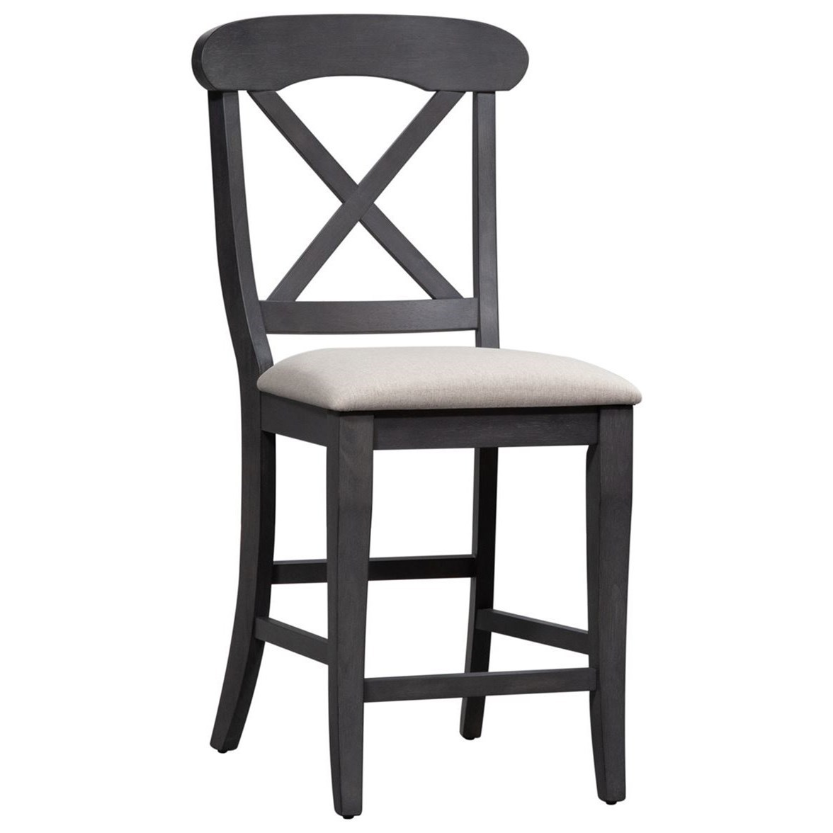 Ocean Isle Upholstered Counter Height Chair by Liberty Furniture at Johnny Janosik