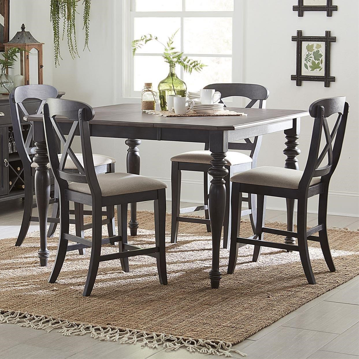 Ocean Isle 5-Piece Gathering Table Set by Liberty Furniture at Johnny Janosik