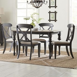 Cottage Style 5-Piece Rectangular Table Set