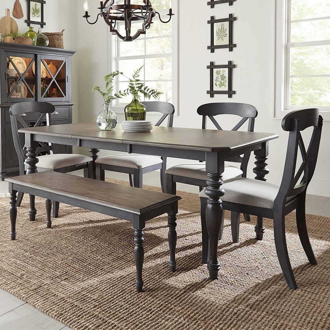 Ocean Isle 6-Piece Rectangular Table Set by Libby at Walker's Furniture