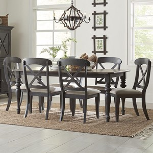 Cottage Style 7-Piece Rectangular Table Set
