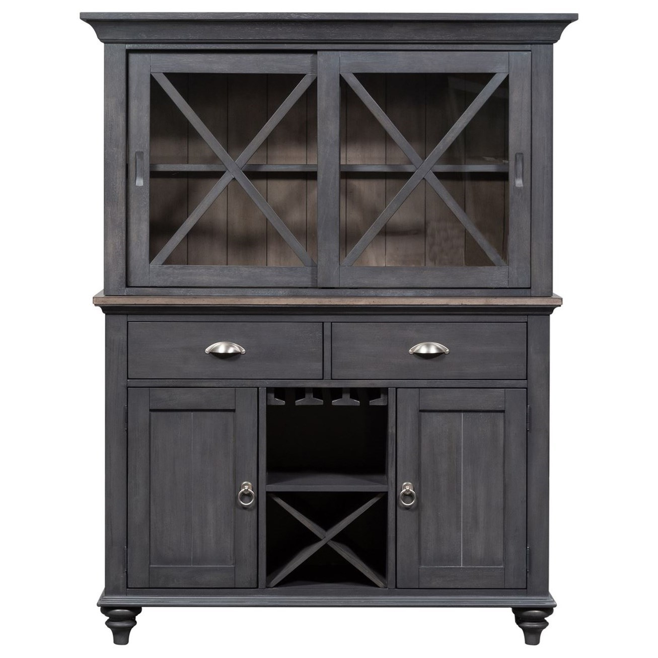 Ocean Isle Hutch and Buffet by Liberty Furniture at Home Collections Furniture