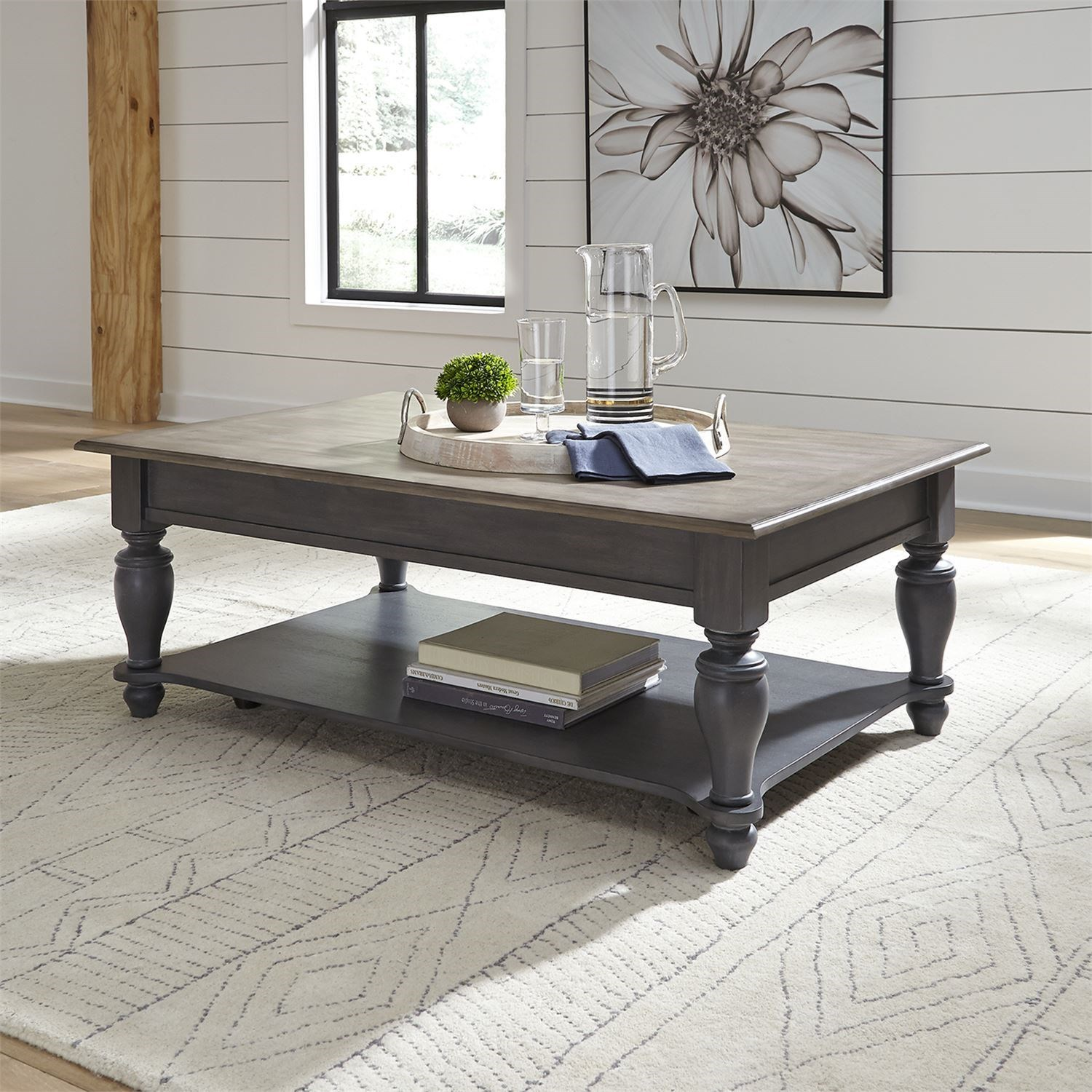 Ocean Isle Rectangular Cocktail Table by Liberty Furniture at Darvin Furniture