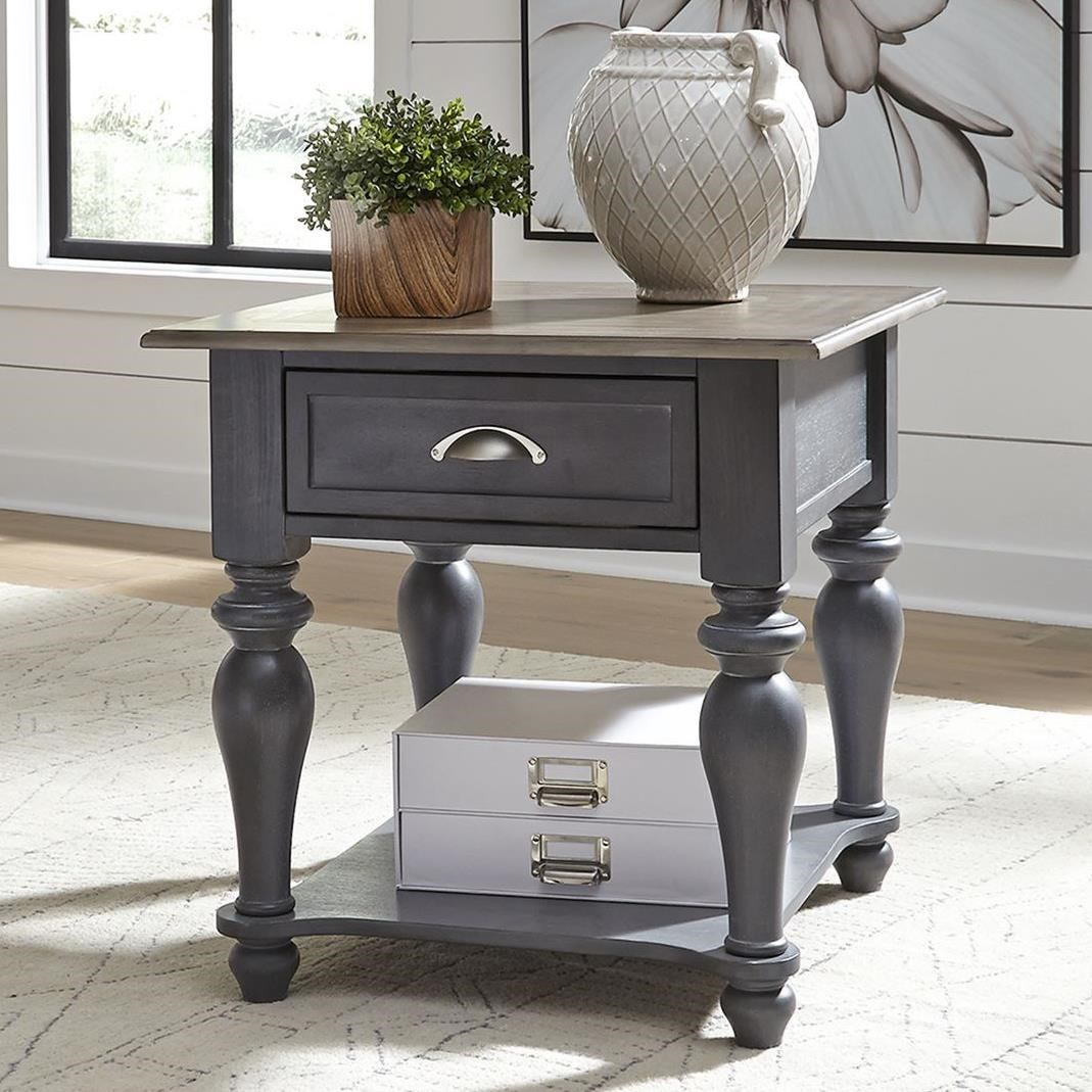 Ocean Isle Drawer End Table by Liberty Furniture at Northeast Factory Direct