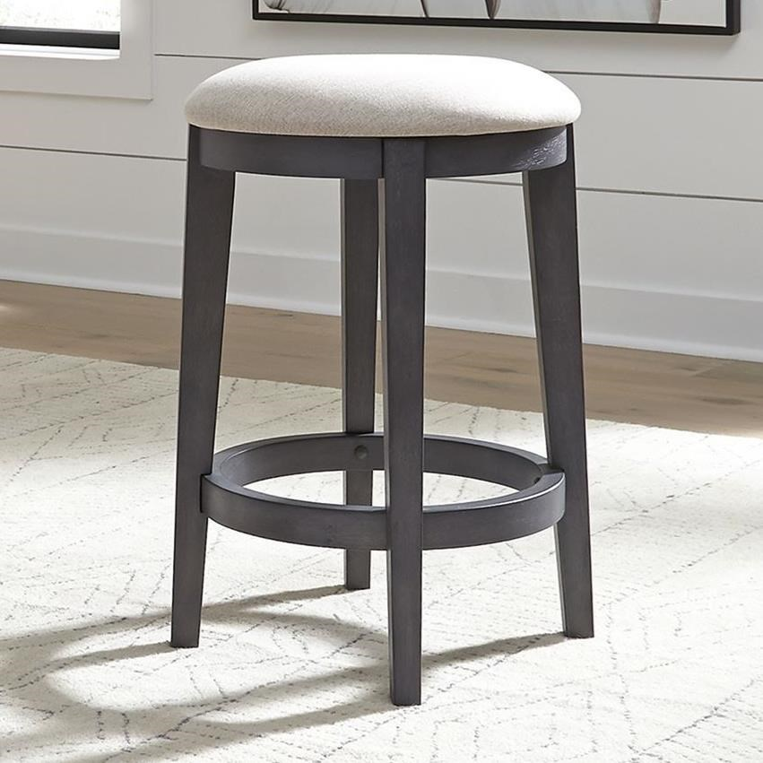 Ocean Isle Upholstered Console Stool by Liberty Furniture at Darvin Furniture