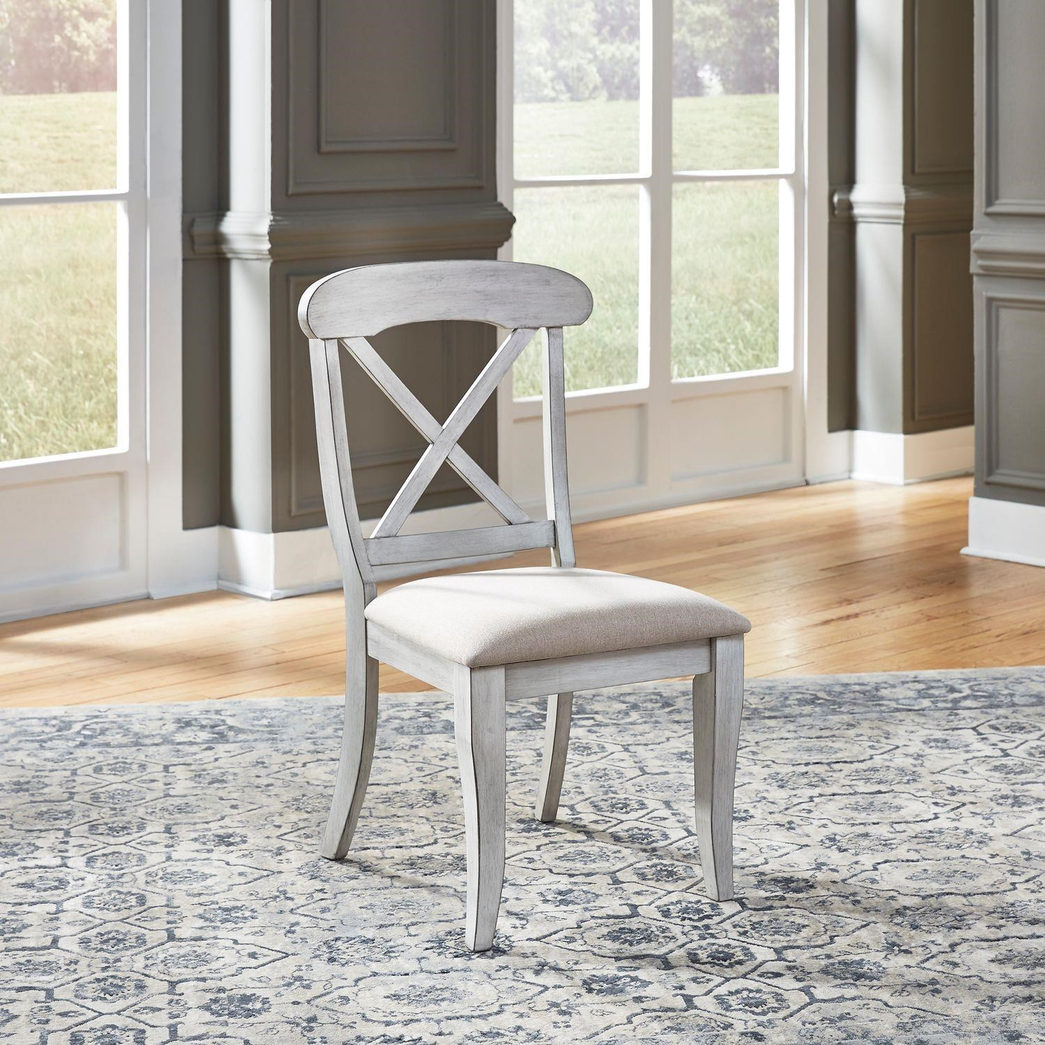 Ocean Isle Upholstered X Back Side Chair by Liberty Furniture at Johnny Janosik