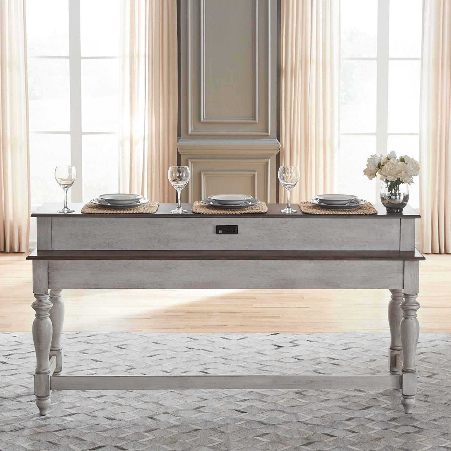 Ocean Isle Console Bar Table by Liberty Furniture at Johnny Janosik