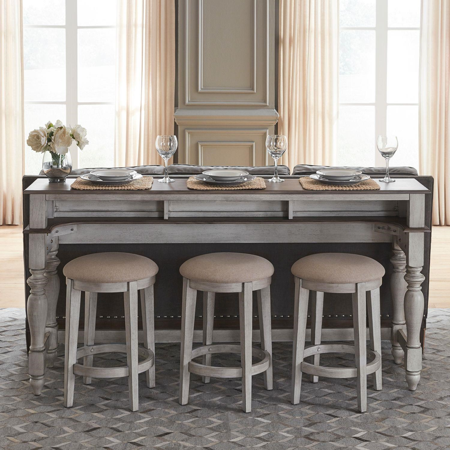 Ocean Isle Bar Table and Stools by Liberty Furniture at Johnny Janosik