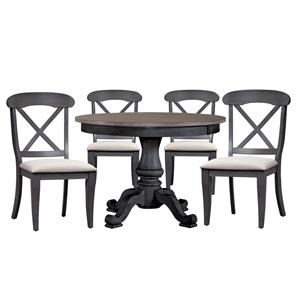 Round Table and Side Chairs