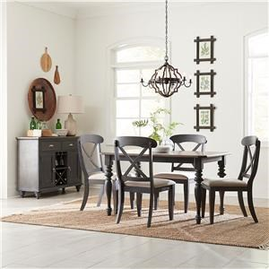 Rectangle Table and X-Back Chairs