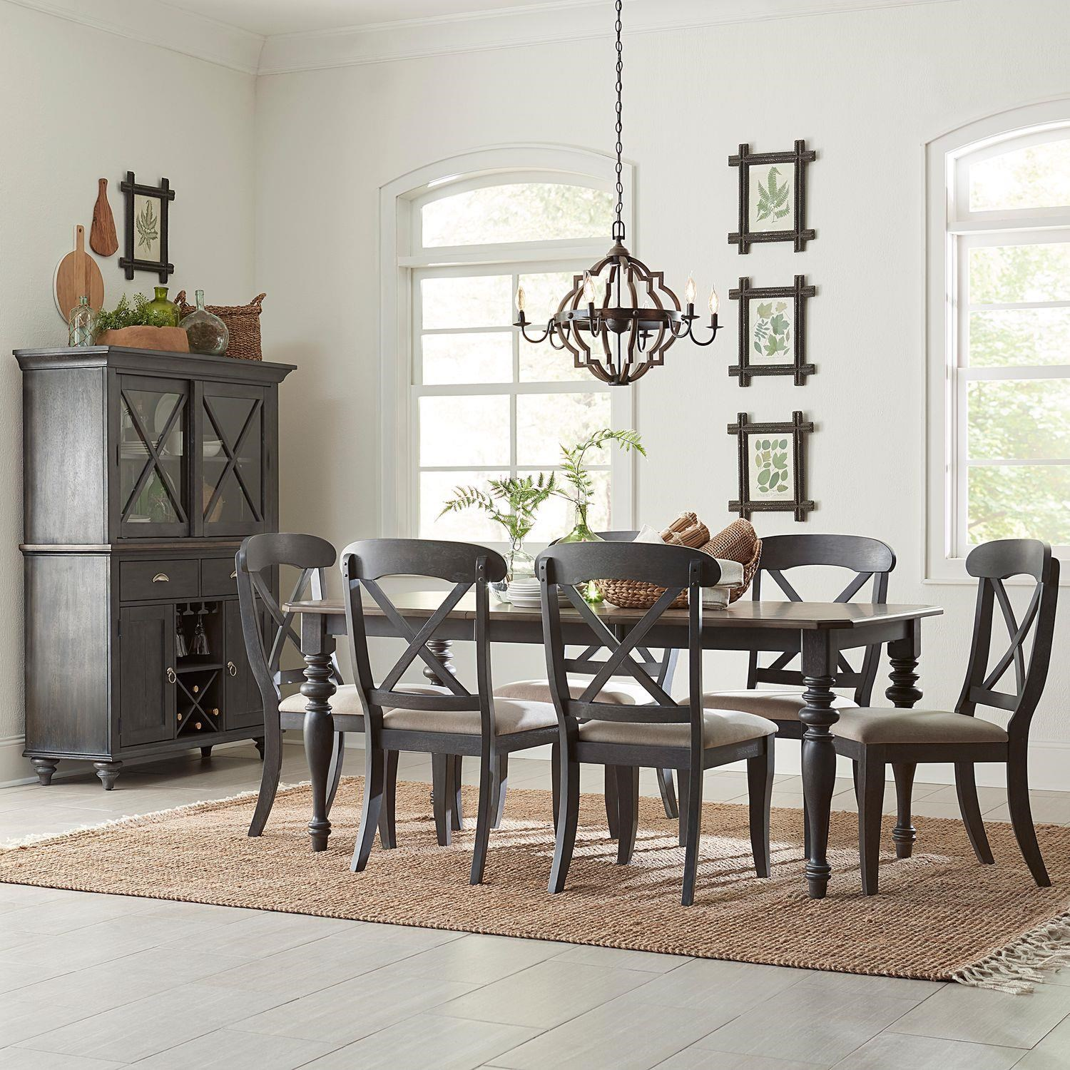Ocean Isle Rectangle Table and X-Back Chairs by Liberty Furniture at Johnny Janosik