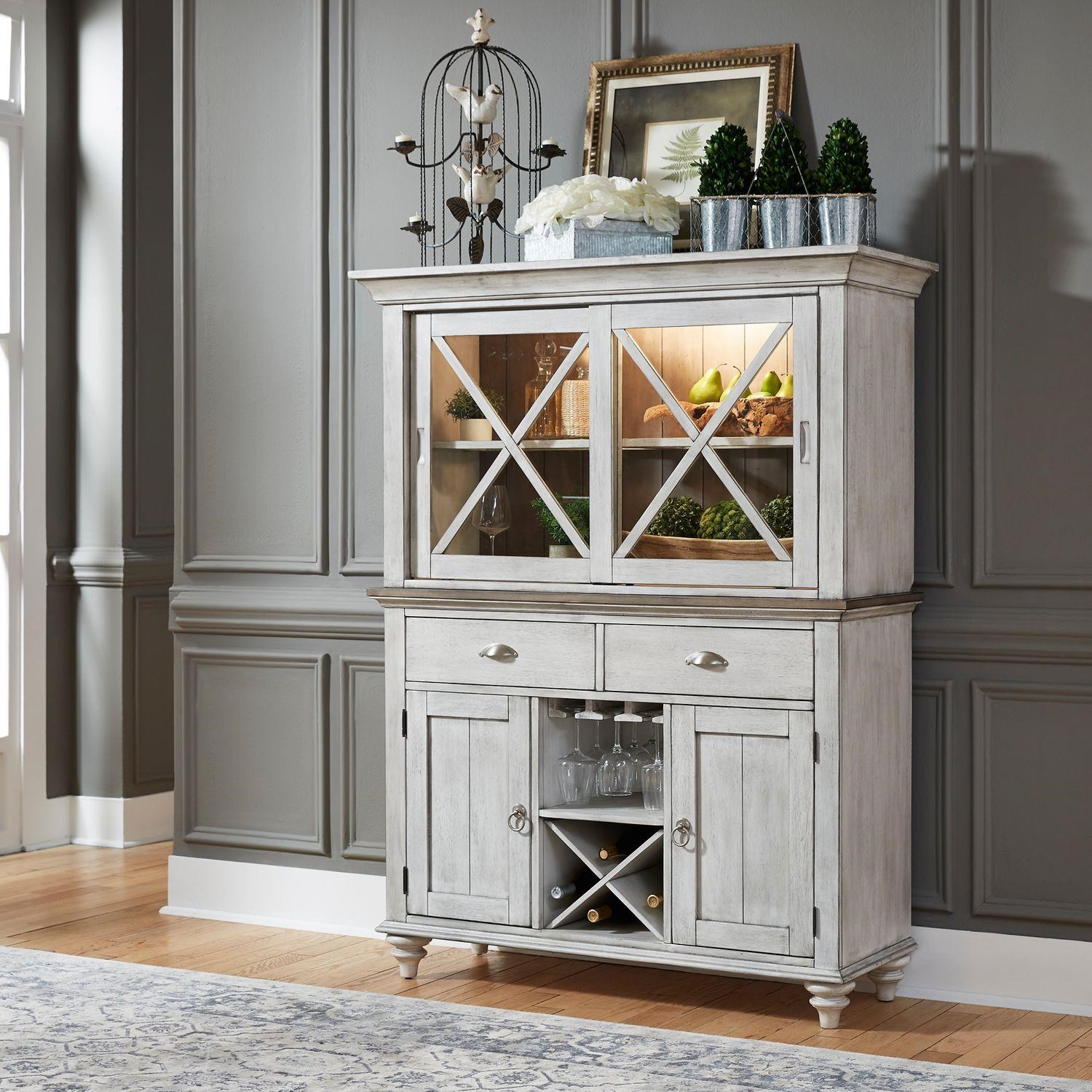 Ocean Isle Hutch and Buffet by Liberty Furniture at Johnny Janosik