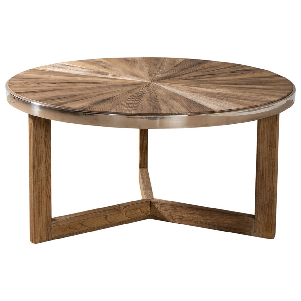 Omega Round Cocktail Table by Liberty Furniture at Darvin Furniture
