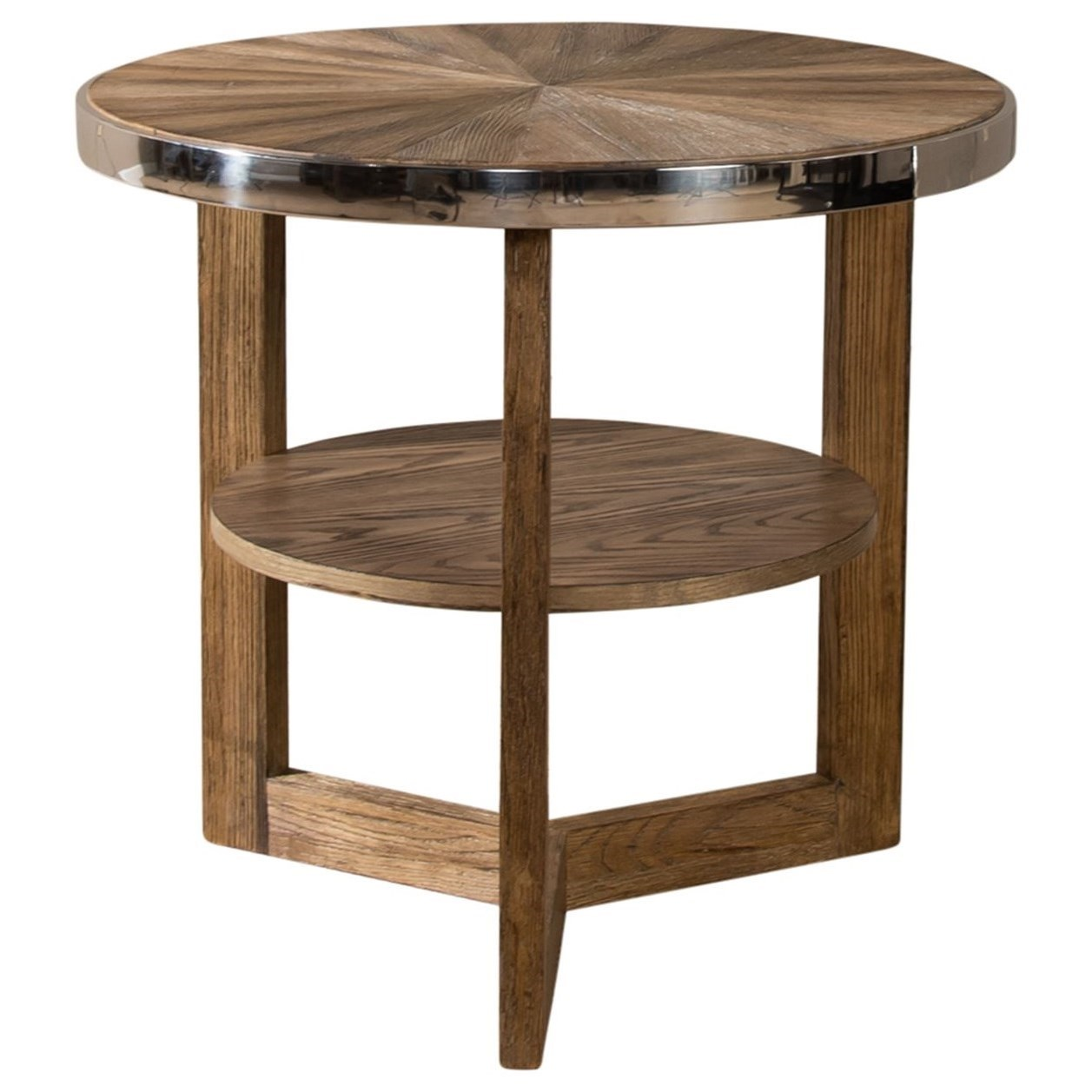 Omega Round End Table by Liberty Furniture at Darvin Furniture