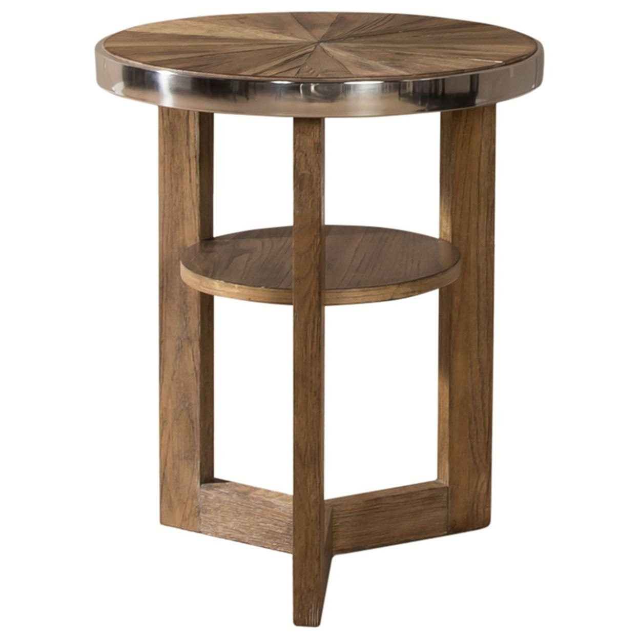 Omega Round Chair Side Table by Sarah Randolph Designs at Virginia Furniture Market