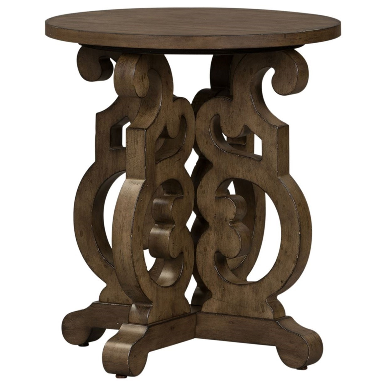 Parisian Marketplace Round End Table by Libby at Walker's Furniture