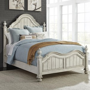 Relaxed Vintage King Poster Bed