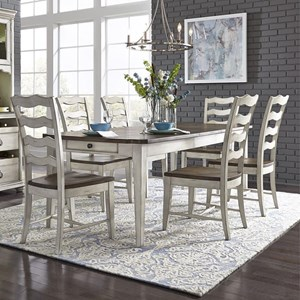 Relaxed Vintage 7-Piece Rectangular Table Set