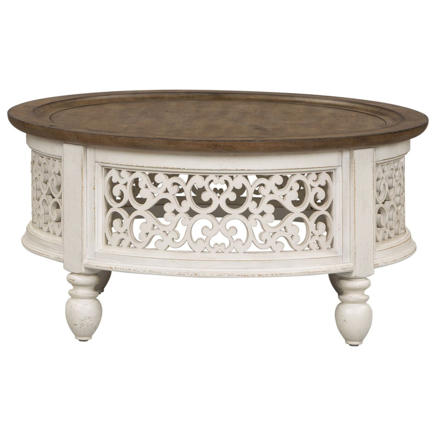 Parisian Marketplace Round Cocktail Table by Libby at Walker's Furniture