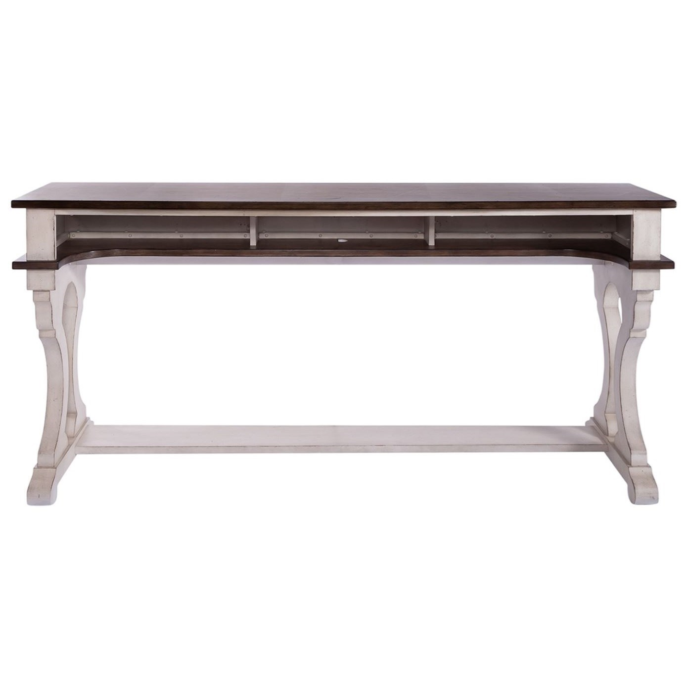 Parisian Marketplace Counter Height Console Bar Table by Libby at Walker's Furniture