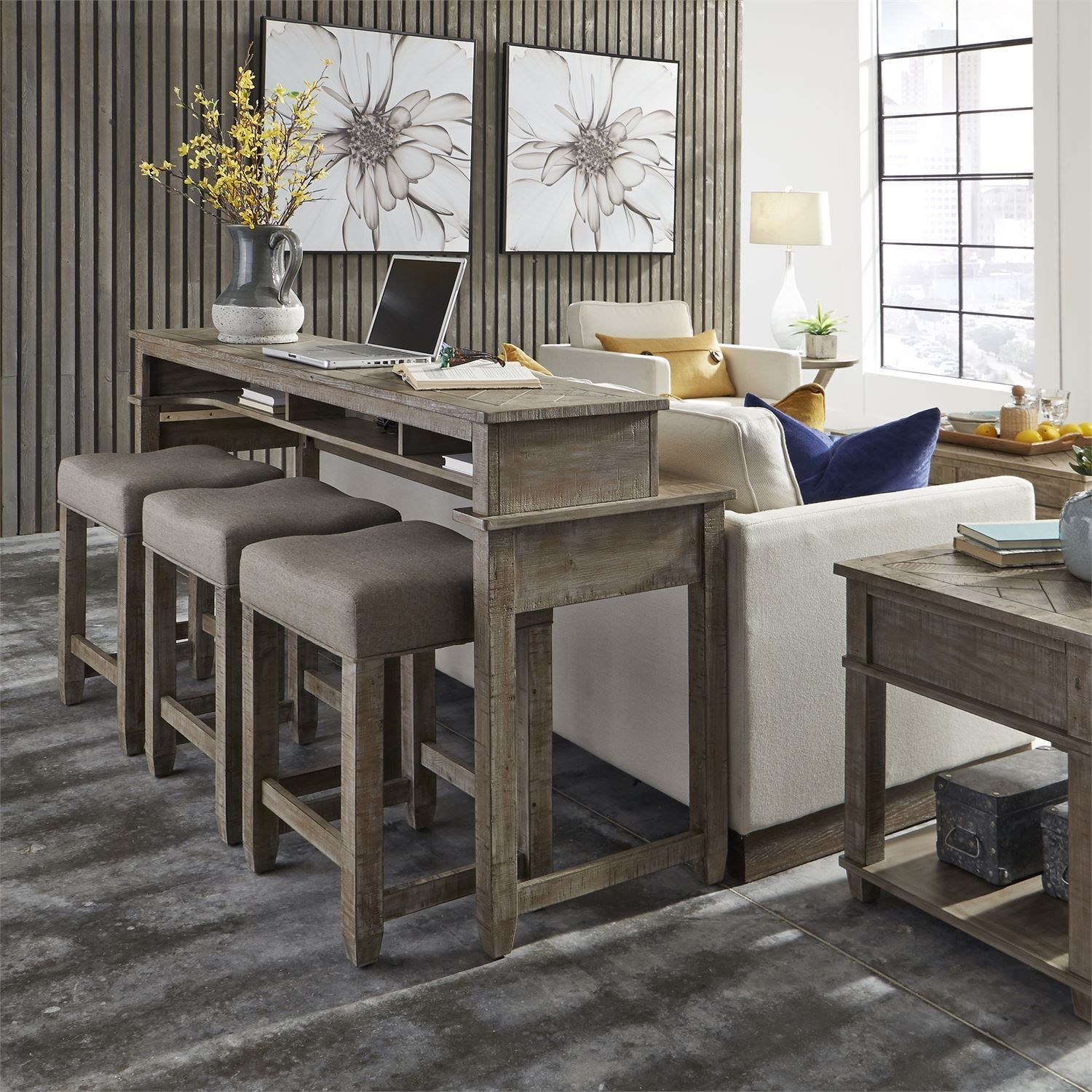 Parkland Falls 4 Piece Bar and Stool Set by Libby at Walker's Furniture