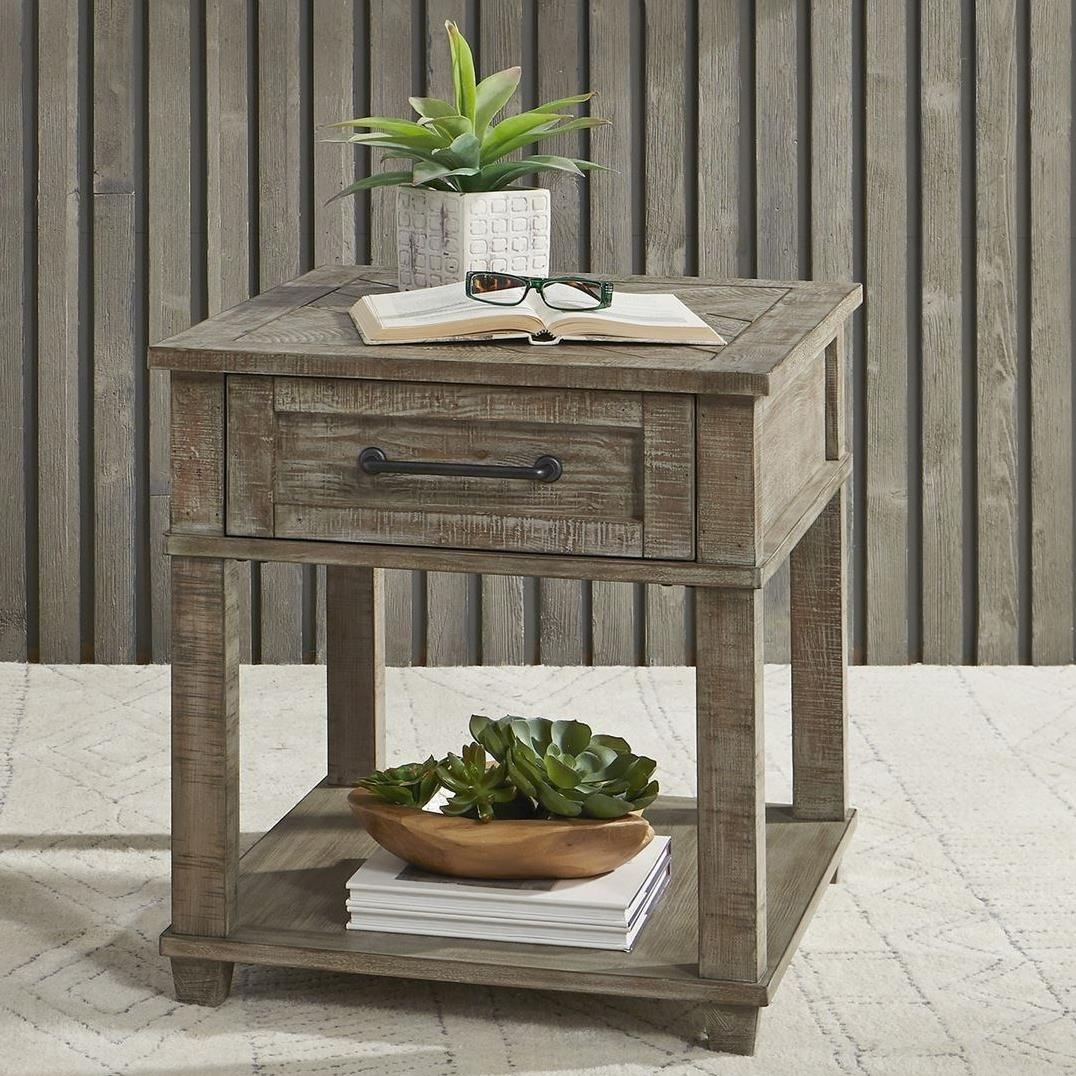 Parkland Falls Rectangular End Table by Libby at Walker's Furniture