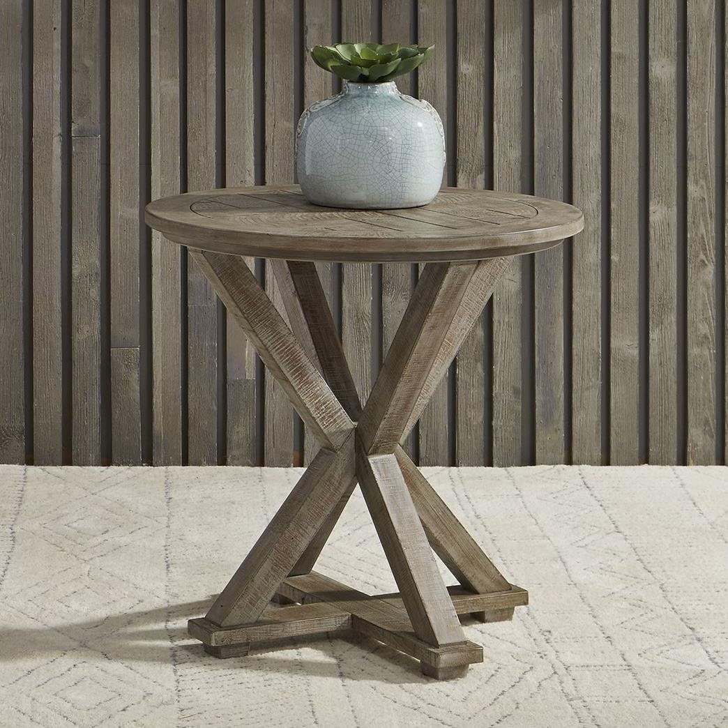 Parkland Falls Round End Table by Libby at Walker's Furniture