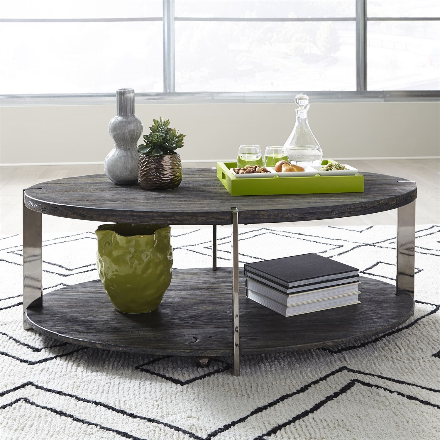 Paxton Oval Cocktail Table by Liberty Furniture at Darvin Furniture
