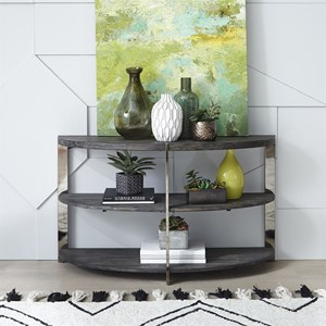 Contemporary Sofa Table with Metal Legs