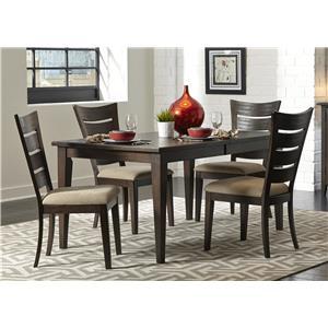 Liberty Furniture Pebble Creek 5 Piece Rectangular Table Set