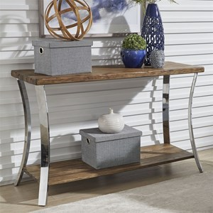 Contemporary Sofa Table with Reclaimed Wood Tops
