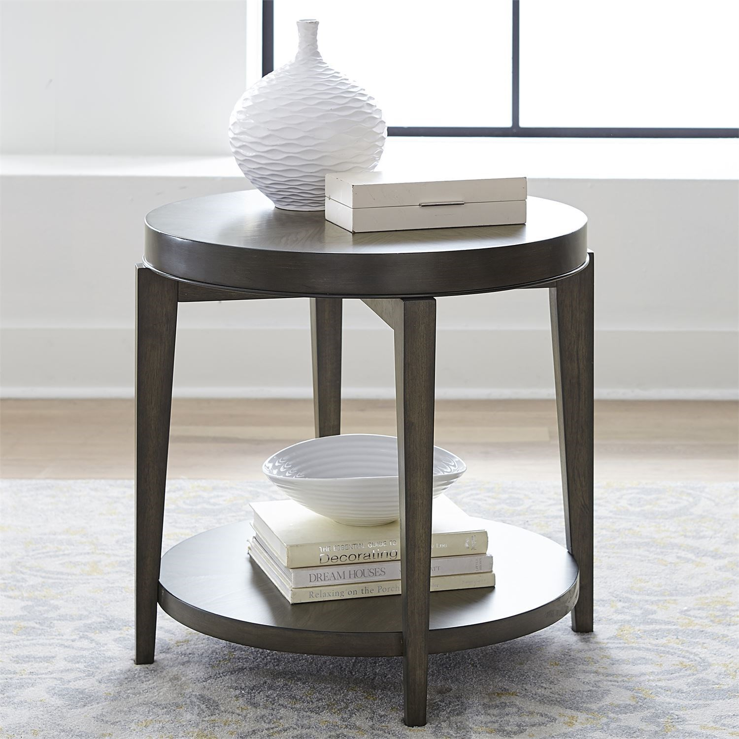 Penton Round End Table by Libby at Walker's Furniture