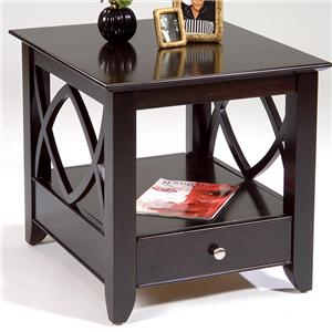 End Table with Bottom Shelf and Drawer