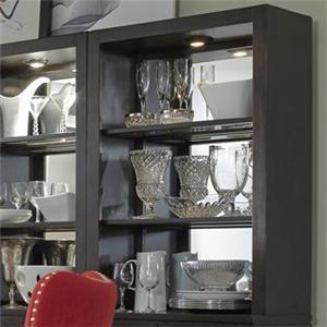 Contemporary Mirror Back Curio Hutch