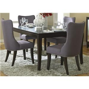 Liberty Furniture Platinum 5 Piece Rectangular Table Set