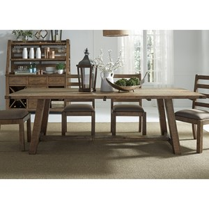 Liberty Furniture Prescott Valley Dining Rustic Dining Table