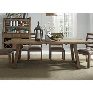 Liberty Furniture Prescott Valley Dining Trestle Table